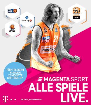 Alle Spiele der Basketball Bundesliga live bei MagentaSport!